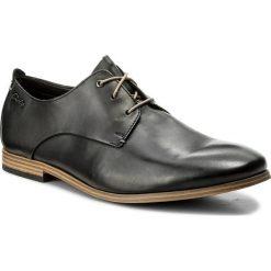 Półbuty CLARKS - Chinley Walk 261153717 Black Leather. Czarne eleganckie półbuty Clarks, z materiału. W wyprzedaży za 249.00 zł.