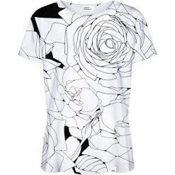 Colour Pleasure Koszulka damska CP-030 1 biało-czarna r. XXXL/XXXXL. T-shirty damskie Colour Pleasure. Za 70.35 zł.
