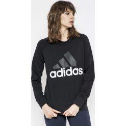 Adidas Performance - Bluza. Czarne bluzy damskie adidas Performance, z nadrukiem, z bawełny. Za 179.90 zł.