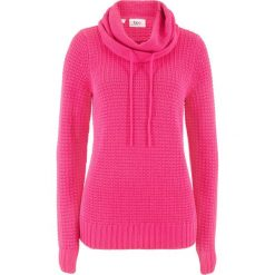 Sweter bonprix ciemnoróżowy. Swetry damskie marki bonprix. Za 69.99 zł.