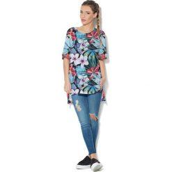 Colour Pleasure Koszulka CP-033 162 czarno-niebiesko-różowa r. uniwersalny. T-shirty damskie marki Colour Pleasure. Za 76.57 zł.