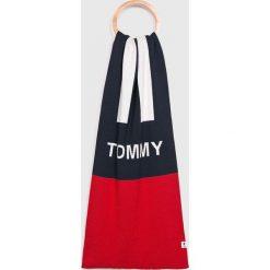 Tommy Jeans - Szalik. Szare szaliki męskie Tommy Jeans, z bawełny. Za 199.90 zł.