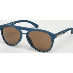 Calvin Klein - Okulary CKJ800S. Brązowe okulary przeciwsłoneczne męskie Calvin Klein, z materiału. Za 539.90 zł.