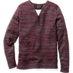 Sweter Regular Fit bonprix czerwony melanż. Swetry przez głowę męskie marki Giacomo Conti. Za 59.99 zł.
