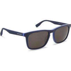 Okulary przeciwsłoneczne BOSS - 0317/S Matt Blue RCT. Niebieskie okulary przeciwsłoneczne męskie Boss, z tworzywa sztucznego. W wyprzedaży za 379.00 zł.