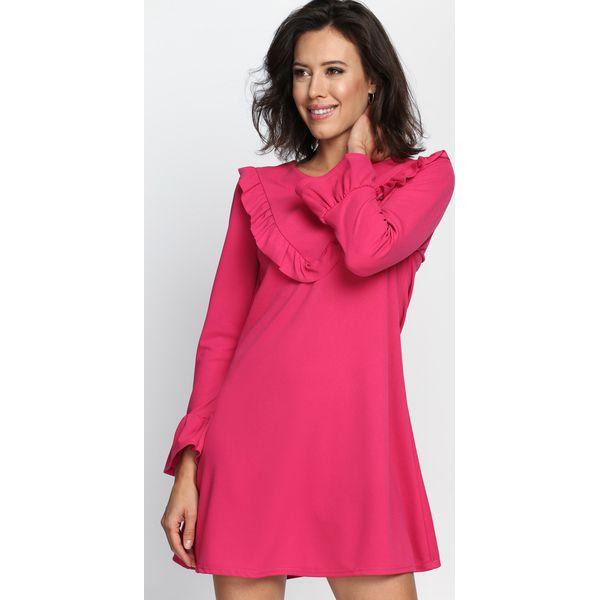 4edd6e1a7d Fuksjowa Sukienka Female - Różowe sukienki damskie marki Born2be