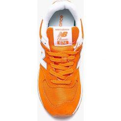 New Balance - Buty WL574ESU. Szare obuwie sportowe damskie New Balance, z materiału. W wyprzedaży za 279.90 zł.