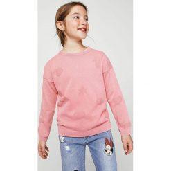 Mango Kids - Sweter dziecięcy Vale 104-164 cm. Swetry dla dziewczynek Mango Kids, z bawełny, z okrągłym kołnierzem. W wyprzedaży za 49.90 zł.
