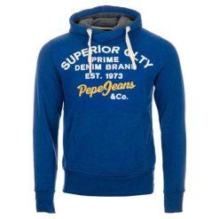Pepe Jeans Bluza Męska Whesley M, Niebieski. Niebieskie bluzy męskie Pepe Jeans, z napisami, z jeansu. Za 389.00 zł.