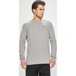Under Armour - Longsleeve. Szare bluzki z długim rękawem męskie Under Armour, z bawełny, z okrągłym kołnierzem. Za 129.90 zł.