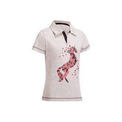 Koszulka polo PL100 szara. Szare koszulki polo męskie FOUGANZA, z krótkim rękawem. Za 29.99 zł.