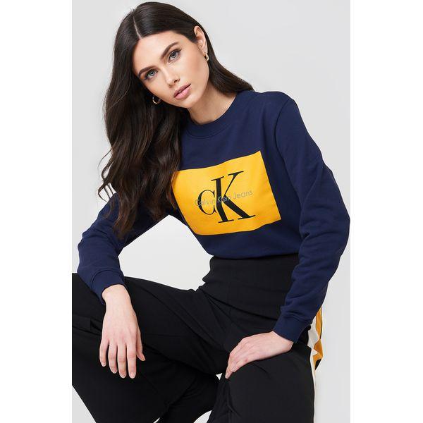 6858518f49ebc Calvin Klein Bluza Hebe True Icon - Blue