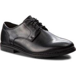 Półbuty CLARKS - Banbury Lace 261322107 Black Leather. Czarne eleganckie półbuty Clarks, z materiału. Za 399.00 zł.