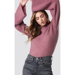 Rut&Circle Sweter z szerokim rękawem - Pink. Różowe swetry damskie Rut&Circle, z dzianiny, z golfem. Za 161.95 zł.