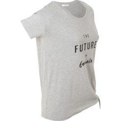 T-shirt z nadrukiem, krótki rękaw bonprix jasnoszary mleanż. T-shirty damskie marki DOMYOS. Za 37.99 zł.