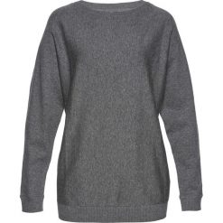 Sweter z rękawami typu nietoperz bonprix szary melanż. Swetry damskie marki bonprix. Za 74.99 zł.