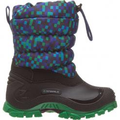 """Zimowe botki """"Sidney"""" w kolorze czarno-zielonym. Czarne buty zimowe chłopięce Spirale, z materiału. W wyprzedaży za 72.95 zł."""