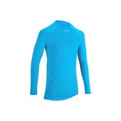Koszulka Termoaktywna Długi Rękaw Na Rower 100 Męska B'twin. Niebieskie koszulki sportowe męskie B'TWIN, z materiału, z długim rękawem. W wyprzedaży za 27.00 zł.