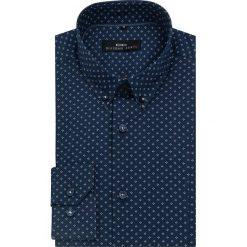 Koszula MICHELE  KDGE000091. Niebieskie koszule męskie Giacomo Conti, z bawełny, button down, z długim rękawem. Za 259.00 zł.