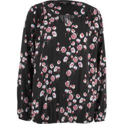 Szeroka bluzka, długi rękaw bonprix czarny z nadrukiem. Bluzki damskie marki MAKE ME BIO. Za 59.99 zł.