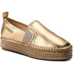 Espadryle GUESS - Rela FLRLE2 FAM14  GOLD. Żółte espadryle damskie Guess, z materiału. W wyprzedaży za 249.00 zł.