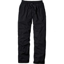 Spodnie sportowe bonprix czarny. Czarne spodnie sportowe męskie bonprix, w paski, z dresówki. Za 54.99 zł.
