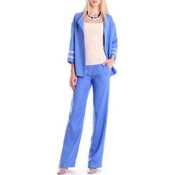 Zestaw w kolorze jasnoniebieskim - żakiet, spodnie. Spodnie materiałowe damskie Andrea Crocetta. W wyprzedaży za 269.95 zł.