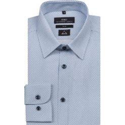 Koszula SIMONE KDNS000149. Niebieskie koszule męskie Giacomo Conti, na lato, w geometryczne wzory, z bawełny, z klasycznym kołnierzykiem. Za 259.00 zł.