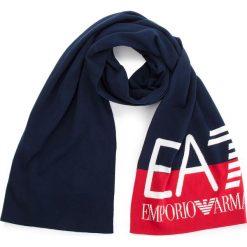 Szal EA7 EMPORIO ARMANI - 285568 8A311 54035 Black Iris/Tango Red. Niebieskie szaliki i chusty damskie EA7 Emporio Armani, z bawełny. Za 409.00 zł.