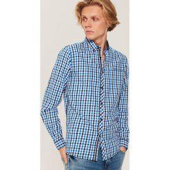 Twillowa koszula w kratkę - Niebieski. Niebieskie koszule męskie House, w kratkę. Za 79.99 zł.