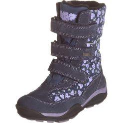 Kozaki zimowe w kolorze granatowym. Buty zimowe dziewczęce Zimowe obuwie dla dzieci. W wyprzedaży za 142.95 zł.