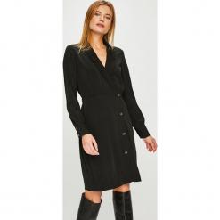 Vero Moda - Sukienka. Szare sukienki damskie Vero Moda, z elastanu, casualowe, z długim rękawem. Za 219.90 zł.