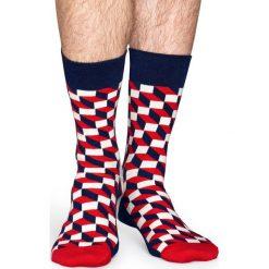 Happy Socks - Skarpety Filled Optic. Szare skarpety męskie Happy Socks. W wyprzedaży za 29.90 zł.