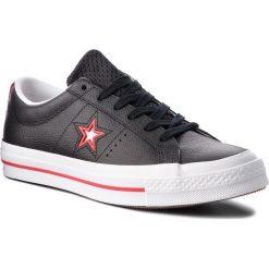 Tenisówki CONVERSE - One Star Ox 161563C Black/Converse Red/White. Czarne trampki męskie Converse, z gumy. W wyprzedaży za 289.00 zł.