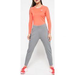 Adidas Performance - Spodnie. Szare spodnie sportowe damskie adidas Performance, z elastanu. W wyprzedaży za 219.90 zł.