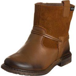 Skórzane botki w kolorze brązowym. Botki dziewczęce Zimowe obuwie dla dzieci. W wyprzedaży za 137.95 zł.