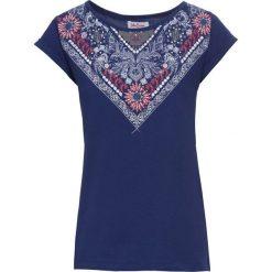 T-shirt z bawełny z nadrukiem, krótki rękaw bonprix kobaltowy z nadrukiem. T-shirty damskie marki DOMYOS. Za 34.99 zł.