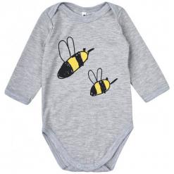 Garnamama Dziecięce Body Z Pszczółkami, 80, Szare. Szare body niemowlęce Garnamama, z długim rękawem. Za 33.00 zł.
