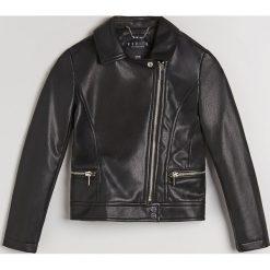 Kurtka biker dla dziewczynki Little Princess - Czarny. Czarne kurtki i płaszcze dla dziewczynek Mohito. Za 119.99 zł.