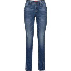 """Dżinsy """"authentik-stretch"""", krótsze nogawki SLIM bonprix niebieski. Jeansy damskie marki DOMYOS. Za 89.99 zł."""