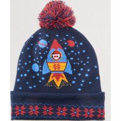 Czapka ze świątecznym motywem - Granatowy. Niebieskie czapki i kapelusze męskie House. Za 49.99 zł.