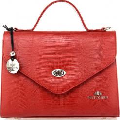Torebka damska 15-4-063-3J. Czerwone torebki do ręki damskie Wittchen, w paski. Za 699.00 zł.