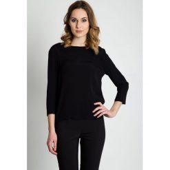 Czarna bluzka z rękawem 3/4 BIALCON. Czarne bluzki damskie BIALCON, eleganckie. Za 185.00 zł.