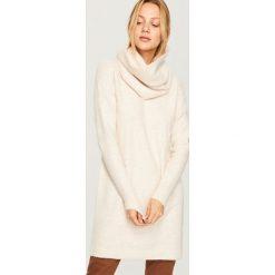 Sweter w zestawie z kominem - Kremowy. Swetry damskie marki KALENJI. W wyprzedaży za 99.99 zł.