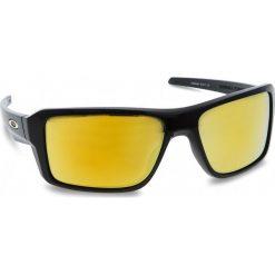 Okulary przeciwsłoneczne OAKLEY - Double Edge OO9380-0266 Polished Black/24k Iridium. Czarne okulary przeciwsłoneczne męskie Oakley, z tworzywa sztucznego. W wyprzedaży za 479.00 zł.