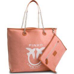 Torebka PINKO - Barrito Shopping Grande PE18 PLTT 1P2150 Y4KR  Pink P11. Brązowe torebki do ręki damskie Pinko, z materiału. W wyprzedaży za 659.00 zł.