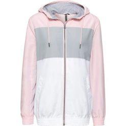 Bluza rozpinana treningowa bonprix pastelowy jasnoróżowy - srebrny - biały. Bluzy damskie marki KALENJI. Za 74.99 zł.