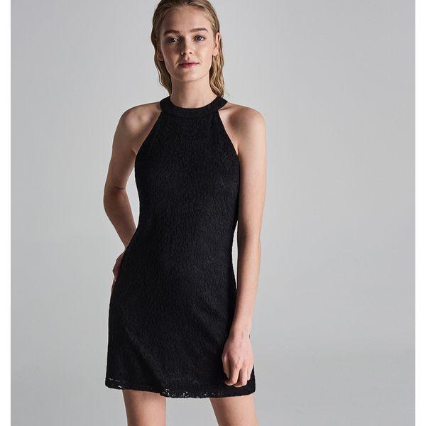 f4371c1294 Dopasowana sukienka z dekoltem halter - Czarny - Sukienki damskie ...