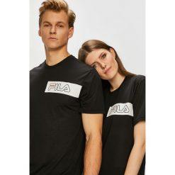 Fila - T-shirt. Czarne t-shirty damskie Fila, z nadrukiem, z dzianiny, z okrągłym kołnierzem. W wyprzedaży za 99.90 zł.