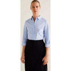 Mango - Koszula Santi. Szare koszule damskie Mango, z bawełny, klasyczne, z klasycznym kołnierzykiem, z długim rękawem. Za 89.90 zł.